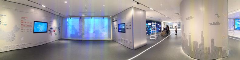 虚拟仿真案例:创意影像,魅力空间!富士胶片投影机打造深圳市国资委智慧展厅
