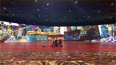 海花岛博物馆艺术展开幕,赢康参与4号馆360°环幕投影