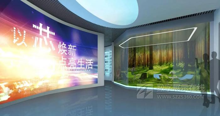 企业展厅设计案例:以芯换新,点亮生活――维艾普新材料企业展厅