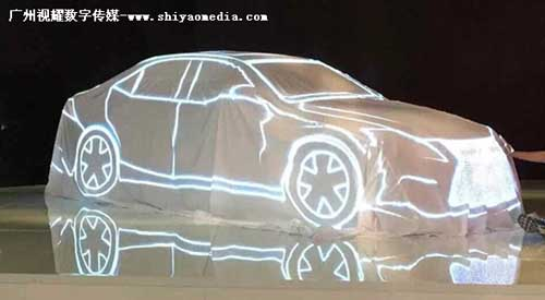 车展策划、车展设计、3D炫酷、汽车3Dmapping