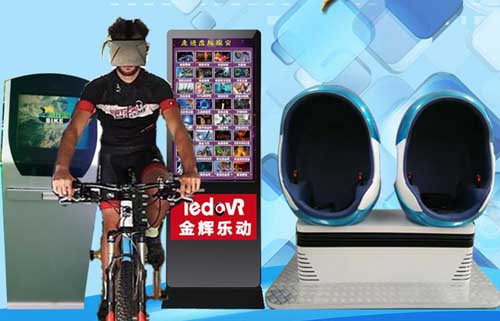9D虚拟现实体验馆设备VR赛车虚拟单车HTC互动游戏空间9DVR蛋椅