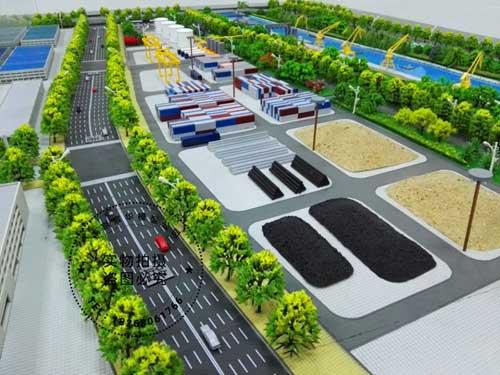 淮安市码头港沙盘模型
