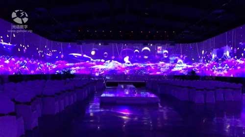光语数字――湖南湘乡首家360度全息宴会厅,绿茵园