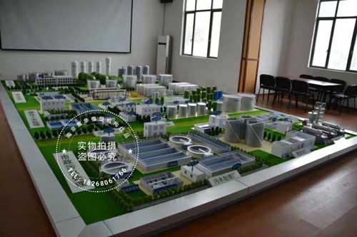 污水处理厂沙盘模型