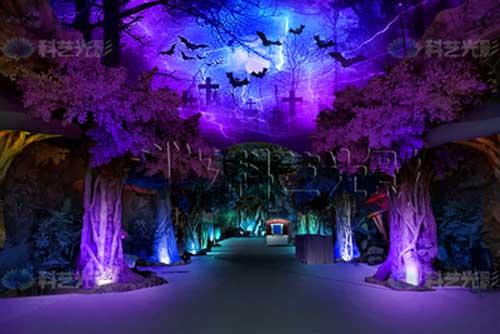 魔幻森林夜游光影策划