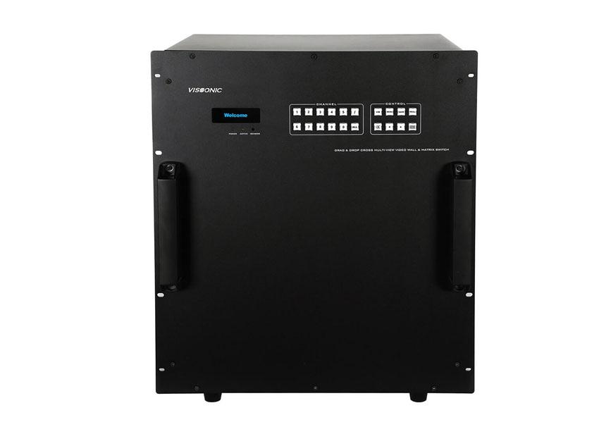 VISSONIC 高清无缝混合矩阵LED/LCD拼接处理器72路图形处理器
