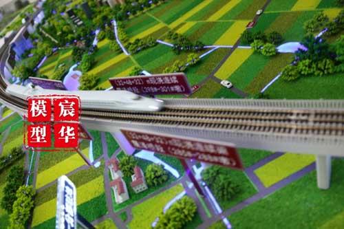 高速铁路沙盘模型