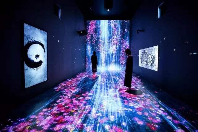 地面或墙面互动投影