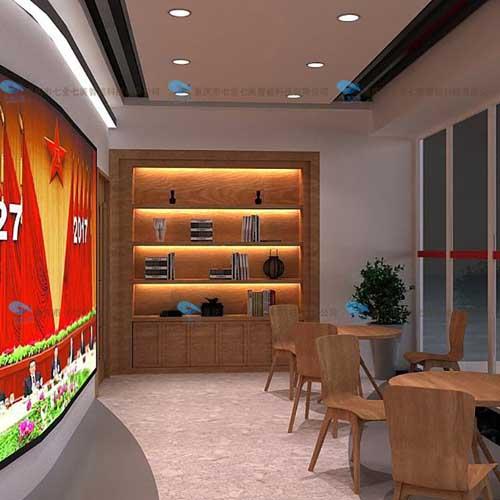 红色教育展厅装修 智能红色教育基地 非公党建展示厅