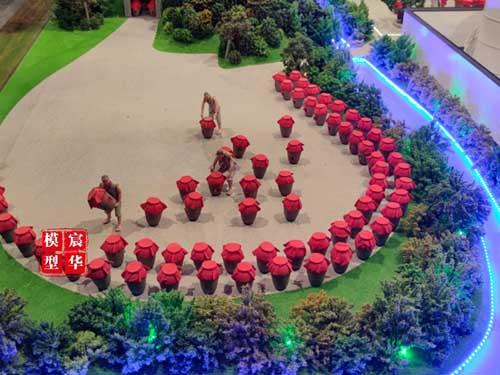 春江酒厂酿酒文化场景沙盘模型